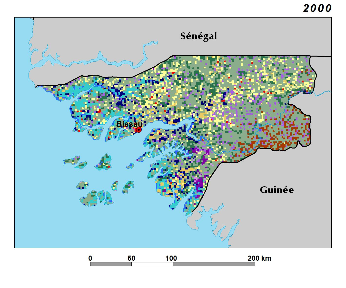 Land Use Land Cover and Trends in GuineaBissau West Africa