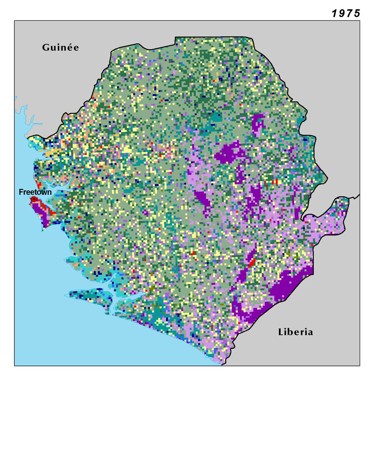 Land use and land cover in Sierra Leone in 1975