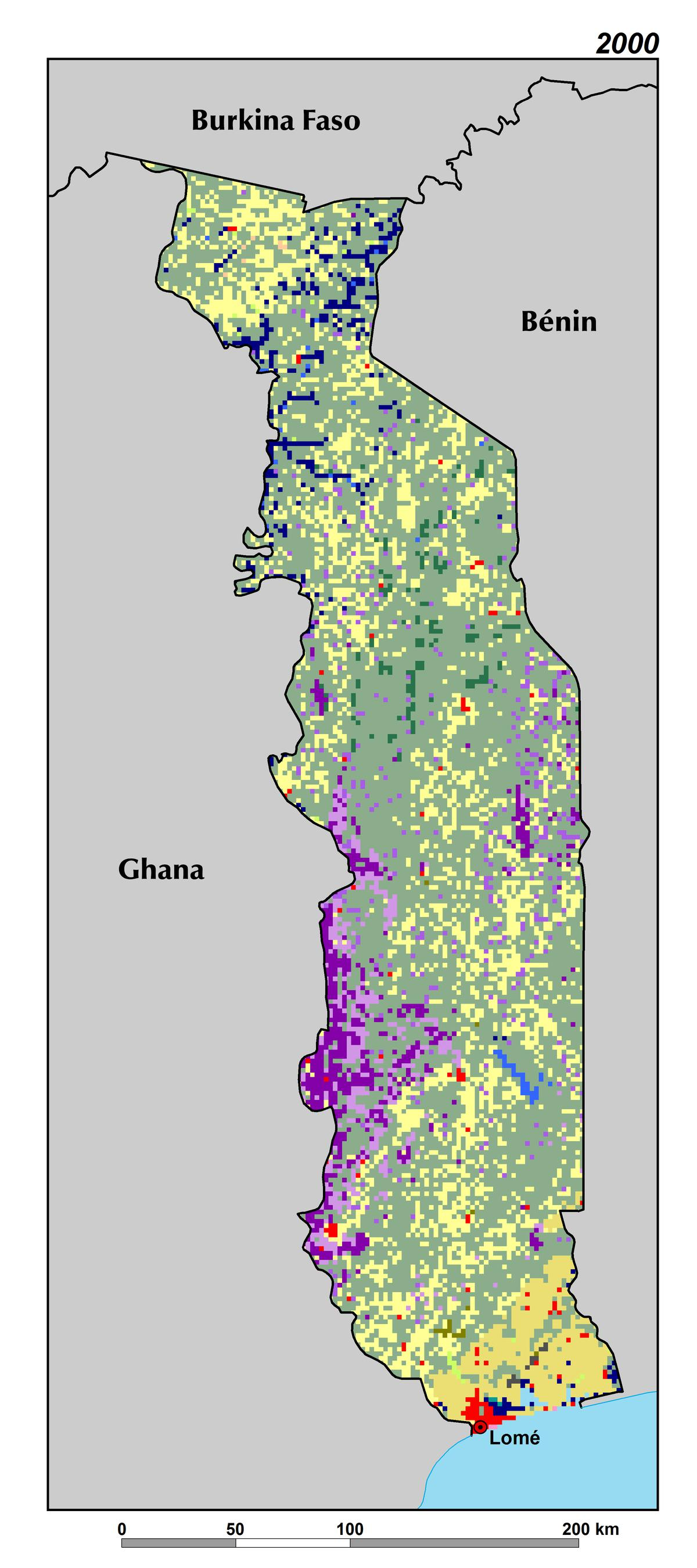 map togo west africa Land Use Land Cover And Trends In Togo West Africa map togo west africa