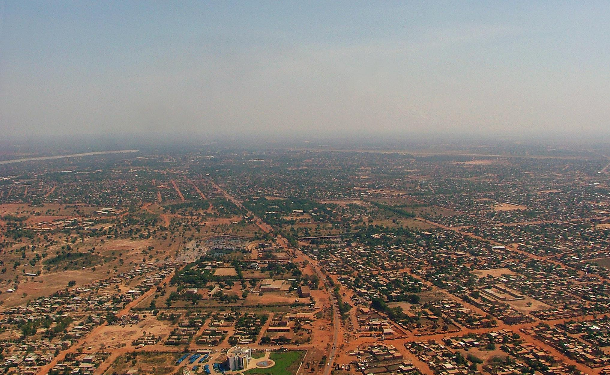 Aerial view of Ouagadougou © Gray Tappan/USGS