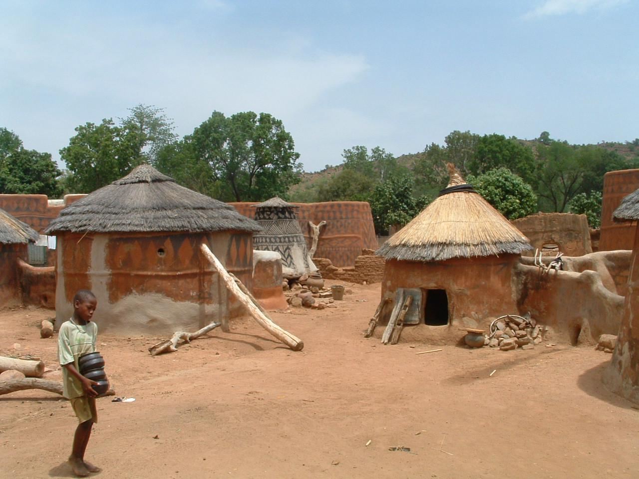 Burkina Faso village    ©Gray Tappan/USGS