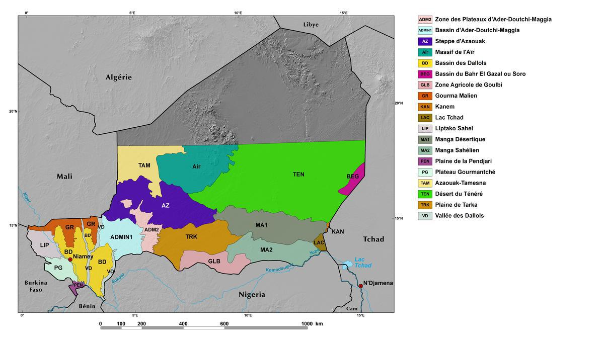 Ecoregions And Topography Of Niger West Africa