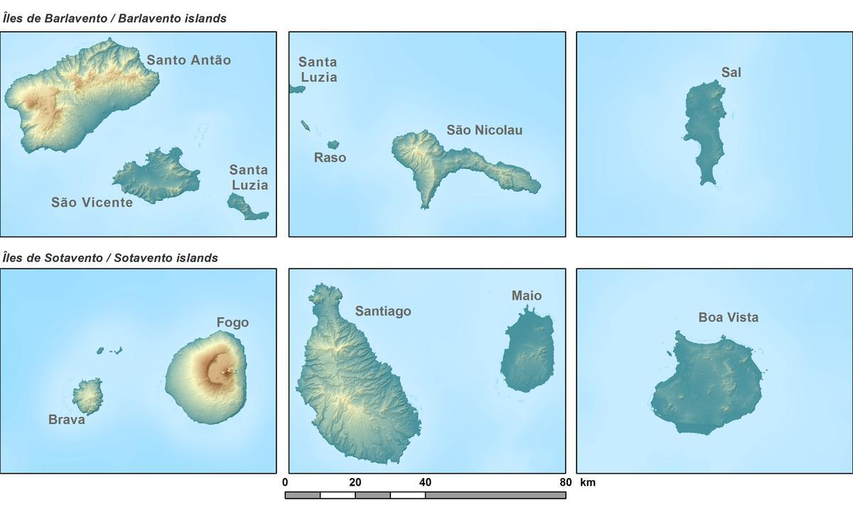 Cabo Verde Topography | West Africa on