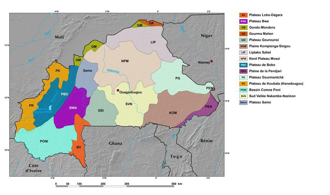Ecoregions and Topography of Burkina Faso | West Africa