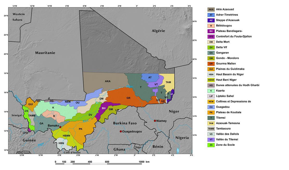 Ecoregions and Topography of Mali | West Africa
