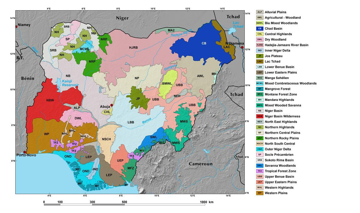 Ecoregions and Topography of Nigeria | West Africa
