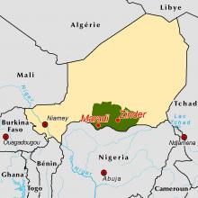 Zinder-Maradi locator map