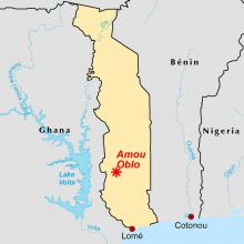 Amou Oblo locator map