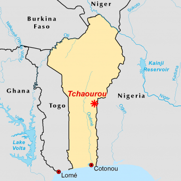 Location of Tchaourou