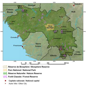 General Reference Map Guinean