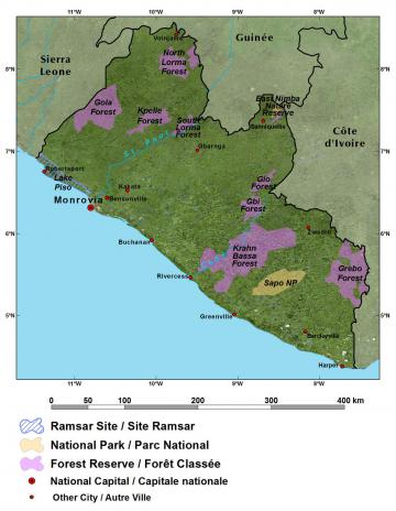General Reference map of Liberia