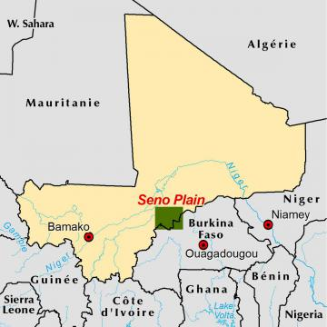 Seno Plain locator map
