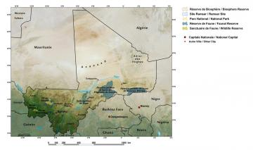 General map of Mali
