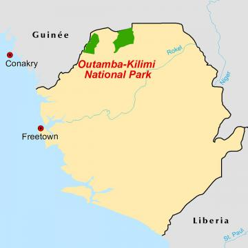 Outamba locator map